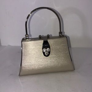 Vintage Silver Rhinestone Bag